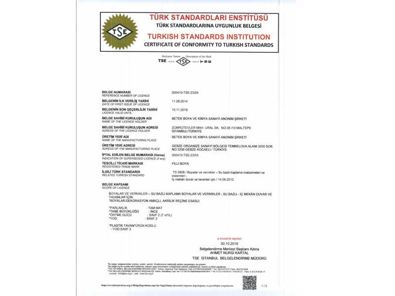 Quality Certificates Zms çelik